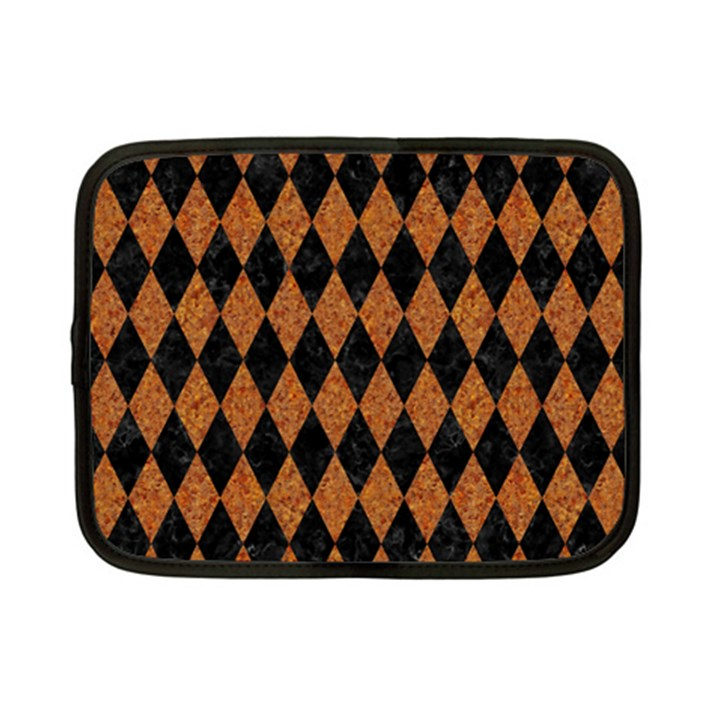 DIAMOND1 BLACK MARBLE & RUSTED METAL Netbook Case (Small)
