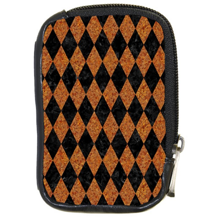 DIAMOND1 BLACK MARBLE & RUSTED METAL Compact Camera Cases
