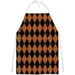 DIAMOND1 BLACK MARBLE & RUSTED METAL Full Print Aprons Front