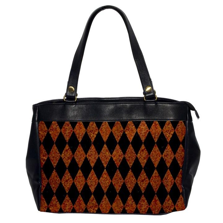 DIAMOND1 BLACK MARBLE & RUSTED METAL Office Handbags