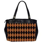DIAMOND1 BLACK MARBLE & RUSTED METAL Office Handbags (2 Sides)  Back