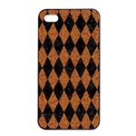 DIAMOND1 BLACK MARBLE & RUSTED METAL Apple iPhone 4/4s Seamless Case (Black) Front