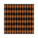 DIAMOND1 BLACK MARBLE & RUSTED METAL Acrylic Tangram Puzzle (6  x 6 ) Front