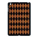 DIAMOND1 BLACK MARBLE & RUSTED METAL Apple iPad Mini Case (Black) Front