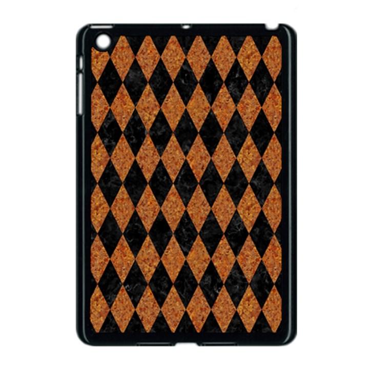 DIAMOND1 BLACK MARBLE & RUSTED METAL Apple iPad Mini Case (Black)