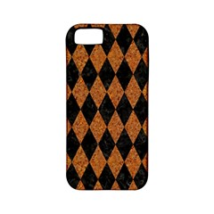 Diamond1 Black Marble & Rusted Metal Apple Iphone 5 Classic Hardshell Case (pc+silicone)