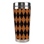 DIAMOND1 BLACK MARBLE & RUSTED METAL Stainless Steel Travel Tumblers Center