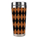DIAMOND1 BLACK MARBLE & RUSTED METAL Stainless Steel Travel Tumblers Right