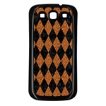 DIAMOND1 BLACK MARBLE & RUSTED METAL Samsung Galaxy S3 Back Case (Black) Front