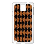 DIAMOND1 BLACK MARBLE & RUSTED METAL Samsung Galaxy Note 3 N9005 Case (White) Front