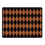 DIAMOND1 BLACK MARBLE & RUSTED METAL Double Sided Fleece Blanket (Small)  45 x34 Blanket Front