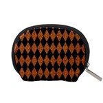 DIAMOND1 BLACK MARBLE & RUSTED METAL Accessory Pouches (Small)  Back