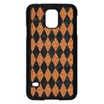 DIAMOND1 BLACK MARBLE & RUSTED METAL Samsung Galaxy S5 Case (Black) Front