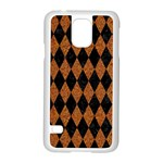 DIAMOND1 BLACK MARBLE & RUSTED METAL Samsung Galaxy S5 Case (White) Front