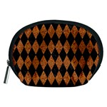 DIAMOND1 BLACK MARBLE & RUSTED METAL Accessory Pouches (Medium)  Front
