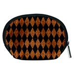 DIAMOND1 BLACK MARBLE & RUSTED METAL Accessory Pouches (Medium)  Back