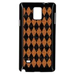 DIAMOND1 BLACK MARBLE & RUSTED METAL Samsung Galaxy Note 4 Case (Black) Front