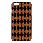 DIAMOND1 BLACK MARBLE & RUSTED METAL iPhone 6 Plus/6S Plus TPU Case Front