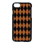 DIAMOND1 BLACK MARBLE & RUSTED METAL Apple iPhone 7 Seamless Case (Black) Front