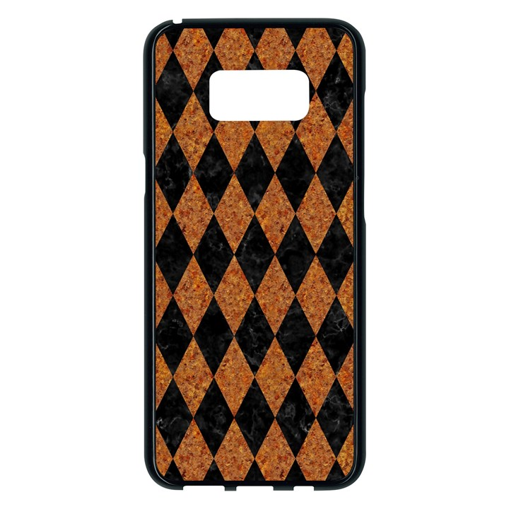 DIAMOND1 BLACK MARBLE & RUSTED METAL Samsung Galaxy S8 Plus Black Seamless Case