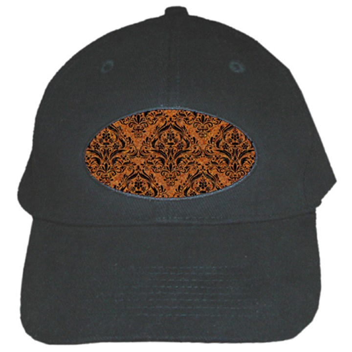 DAMASK1 BLACK MARBLE & RUSTED METAL Black Cap