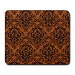 DAMASK1 BLACK MARBLE & RUSTED METAL Large Mousepads Front