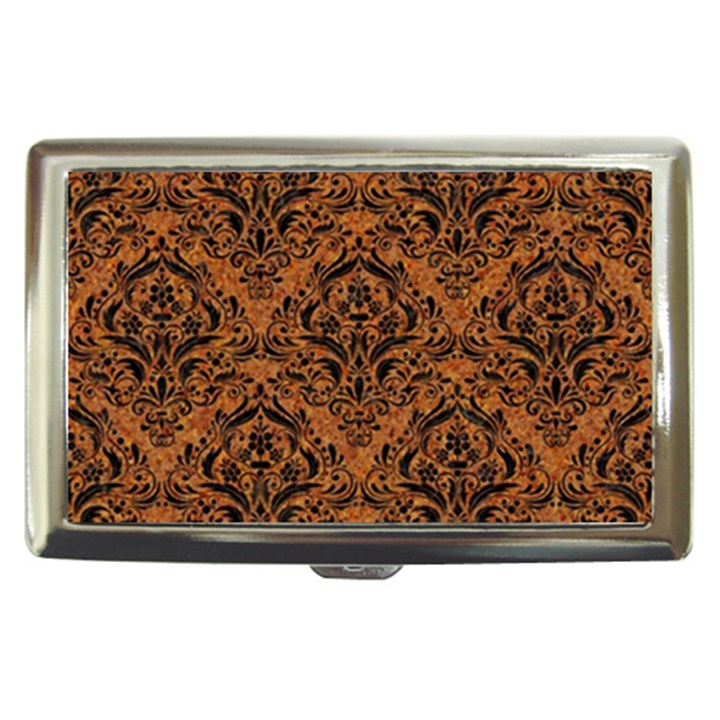 DAMASK1 BLACK MARBLE & RUSTED METAL Cigarette Money Cases