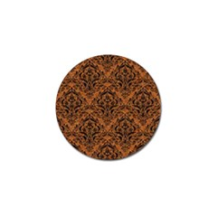 Damask1 Black Marble & Rusted Metal Golf Ball Marker (4 Pack)