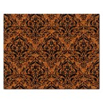 DAMASK1 BLACK MARBLE & RUSTED METAL Rectangular Jigsaw Puzzl Front