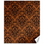 DAMASK1 BLACK MARBLE & RUSTED METAL Canvas 8  x 10  10.02 x8 Canvas - 1