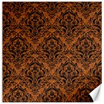 DAMASK1 BLACK MARBLE & RUSTED METAL Canvas 12  x 12   12 x12 Canvas - 1