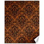 DAMASK1 BLACK MARBLE & RUSTED METAL Canvas 16  x 20   20 x16 Canvas - 1