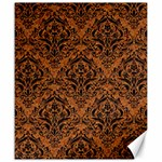 DAMASK1 BLACK MARBLE & RUSTED METAL Canvas 20  x 24   24 x20 Canvas - 1