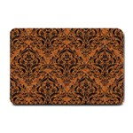 DAMASK1 BLACK MARBLE & RUSTED METAL Small Doormat  24 x16 Door Mat - 1