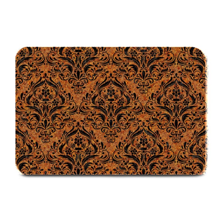 DAMASK1 BLACK MARBLE & RUSTED METAL Plate Mats