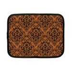 DAMASK1 BLACK MARBLE & RUSTED METAL Netbook Case (Small)  Front