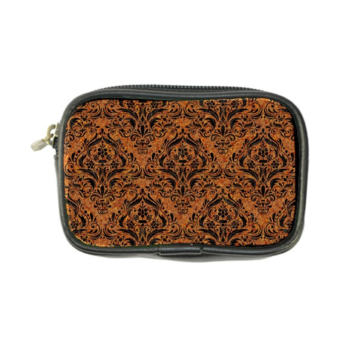 DAMASK1 BLACK MARBLE & RUSTED METAL Coin Purse