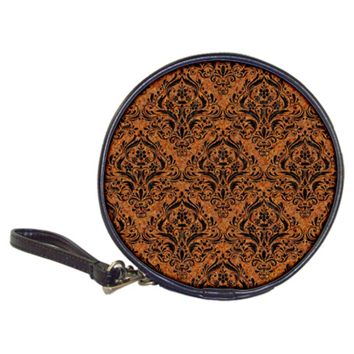 DAMASK1 BLACK MARBLE & RUSTED METAL Classic 20-CD Wallets