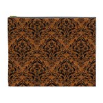 DAMASK1 BLACK MARBLE & RUSTED METAL Cosmetic Bag (XL) Front