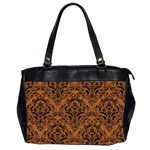 DAMASK1 BLACK MARBLE & RUSTED METAL Office Handbags (2 Sides)  Front