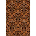 DAMASK1 BLACK MARBLE & RUSTED METAL 5.5  x 8.5  Notebooks Back Cover Inside