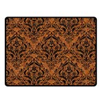 DAMASK1 BLACK MARBLE & RUSTED METAL Fleece Blanket (Small) 50 x40 Blanket Front