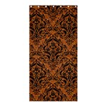 DAMASK1 BLACK MARBLE & RUSTED METAL Shower Curtain 36  x 72  (Stall)  33.26 x66.24 Curtain