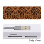DAMASK1 BLACK MARBLE & RUSTED METAL Memory Card Reader (Stick)  Front