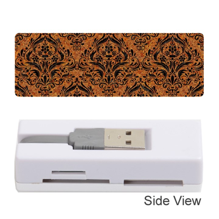 DAMASK1 BLACK MARBLE & RUSTED METAL Memory Card Reader (Stick)