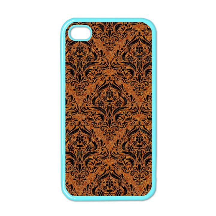 DAMASK1 BLACK MARBLE & RUSTED METAL Apple iPhone 4 Case (Color)