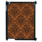 DAMASK1 BLACK MARBLE & RUSTED METAL Apple iPad 2 Case (Black) Front