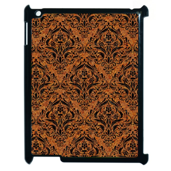DAMASK1 BLACK MARBLE & RUSTED METAL Apple iPad 2 Case (Black)