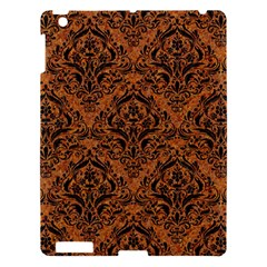 Damask1 Black Marble & Rusted Metal Apple Ipad 3/4 Hardshell Case