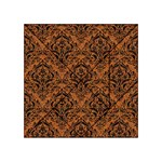 DAMASK1 BLACK MARBLE & RUSTED METAL Acrylic Tangram Puzzle (4  x 4 ) Front